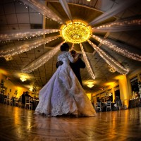 Married couple taking first dance