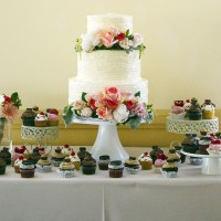 Wedding cake and assorted cakes