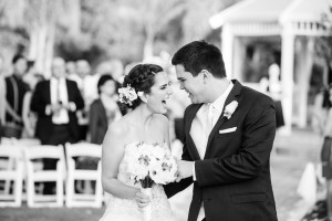 Recently married couple celebrating at Moorpark Country Club