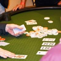 Casino night with poker game