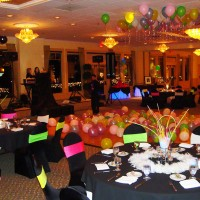 Ballroom decorated